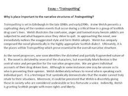 trainspotting essay by poetryessay teaching resources tes trainspotting essay by poetryessay teaching resources tes