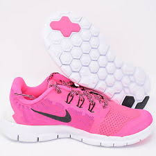 nike shoes for girls black and white. nike free 5 725115-600 pink pow black \u0026 white girls kids ps running shoes for and r