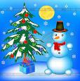 Снеговик елка