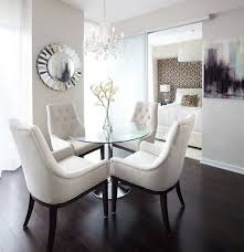 dining room small chandelier idea