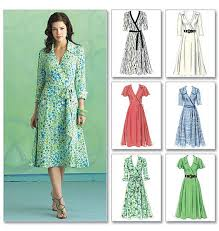 Wrap Dress Sewing Pattern Adorable BUTTERICK B48 MISSES' WOMEN'S WRAP FRONT DRESS SASH SEWING