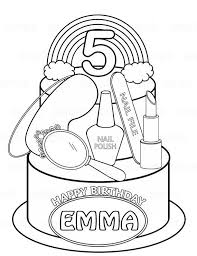 Birthday Party Coloring Pages Lovely Personalized Printable Rainbow