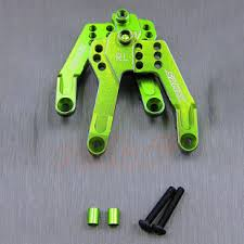 Samix <b>Aluminum</b> Rear Shock Plate <b>1 pair</b> Green For Axial SCX10 II