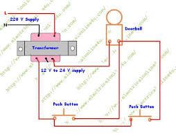 push button wiring diagram how to wire a doorbell wire a door bell from 2 push button