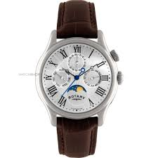 "men s rotary moonphase watch gs02838 01 watch shop comâ""¢ mens rotary moonphase watch gs02838 01"