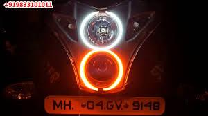Pulsar 220 New Dual Colour Angel Eyes Xenon By Avmod Youtube