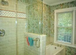 nice ideas of glass tile trim bathroom photos