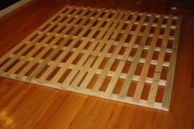 picture of how to make a low profile wooden bed frame