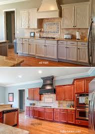 before and photos great stained kitchen cabinets before and how