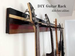 aloha home solutions diy guitar wall rack