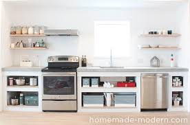 this concrete kitchen countertop was built for less than 120 the entire is a modern counter f37 counter