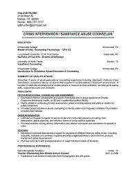 job resume addiction counselor resume sample sample employment counselor resume school psychologist cover letter school career advisor resume