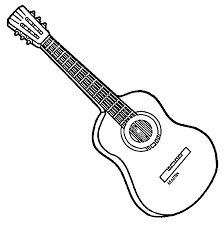 Small Picture Guitar Coloring Pages Bass Guitar Coloring Pages Electric Bass