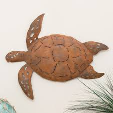 on large metal sea turtle wall art with oxidized metal sea turtle wall art large