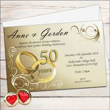 10 Personalised Gold Rings 50th Golden Wedding Anniversary