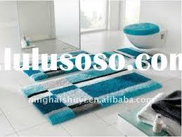 toilet rug set