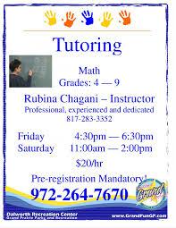 Tutoring Flyer Template Free Yourweek Eca25e Math Tutoring