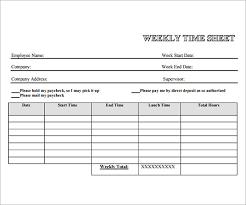 Timecard Template Word Free Printable Weekly Employee Timesheet Template 1431
