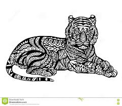 Small Picture Zentangle Coloring Pages TigerColoringPrintable Coloring Pages