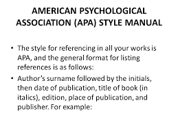 american phsycological association american psychological association apa style manual ppt download
