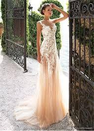 Designer Sheath Wedding Dresses 2019 Designer Lace See Through Sheath Wedding Dresses With
