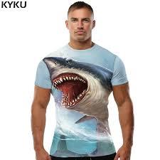 <b>KYKU Brand Shark</b> Shirt Men T Shirt Sea 3d T Shirt Fitness ...