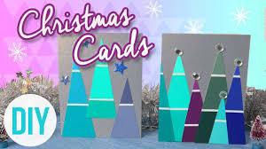Diy Christmas Cards Diy Christmas Cards Cute Easy Youtube