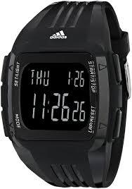 adidas unisex adp6090 digital black striped watch adidas unisex adp6090 digital black striped watch polyurethane band amazon co uk watches