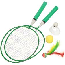 Бадминтон пластиковые ракетки с мячом и <b>воланами</b> 2681-<b>green</b> ...