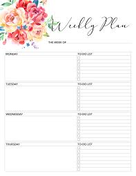 Daily Planner Printout Free Printable 2018 Planner 50 Plus Printable Pages The Cottage Market
