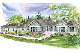 ranch house plan parkdale 30 684 front elevation