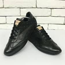 Details About Louis Vuitton Sneaker Trainers Black Leather Denim Monogram 8 Lv 9 Us 42 Eur