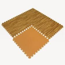 image of brown foam floor tiles