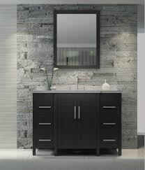 Bathroom Vanity Black Ace Hollandale 49 Inch Single Sink Bathroom Vanity Set In Black Finish