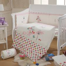 baby bedding set crib bedding set 2016 cot bedding set embroidery bird tree flowers