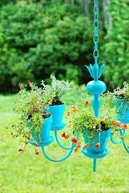 outdoor plant chandelier