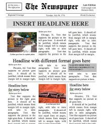 Newspaper Template For Microsoft Works Designed By A Teacher Newspaper Template Instant Download For Unlimited Use In Ms Word