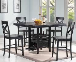 wood black dining table set