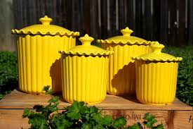 Rustic Kitchen Canister Sets Accessories Charming Yellow Tupperware Canisters Kitchen Set