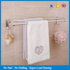 bath towel hanger. SBLE Magic Sticker No Drill Aluminum Towel Bar Kitchen Bath Holder Bathroom Hanger With V