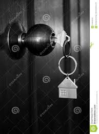door lock and key black and white. House Key In Wooden Front Door Black And White Color Tone Lock