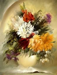 flower oil painting 20 beautiful bouquet and flower