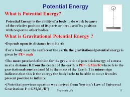 11 physics is life11 potential energy what