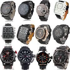 brand new v6 men wrist watch black leather rubber band quartz dial brand new v6 men wrist watch black leather rubber band quartz dial sport watches