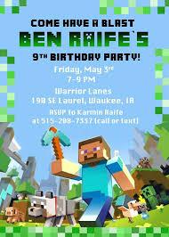 Free Minecraft Invitation Template Jonandtracy Co