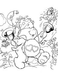 Small Picture Care bear and snowman coloring pages Hellokidscom