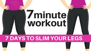 7 Day Squat Challenge Chart 7 Day Challenge 7 Minute Workout To Slim Your Legs Home Workout To Lose Hip Inches Start Today