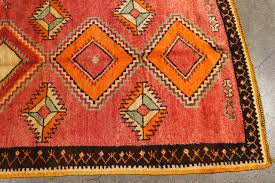 hand woven vintage moroccan tribal rug runner matisse style for