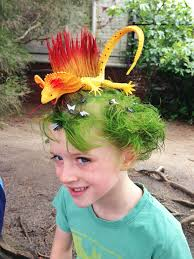 Lizard Hair Design Lizard Wacky Hair Day Wacky Hair Days Crazy Hair Wacky Hair