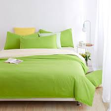 whole minimalist bedding sets apple green duver quilt cover bed sheet beige pillowcase soft and comfortable king queen full twin designer
